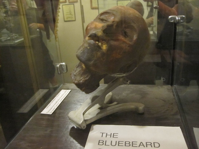 """One of the museum's most famous pieces is the head of Henri Landru (also known as """"Bluebeard""""), the French serial killer who seduced widows and burned their bodies. He was executed in 1921."""