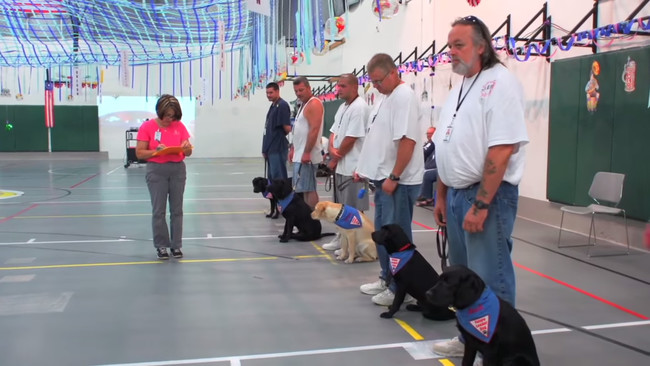 """At first, <a href=""""http://www.leaderdog.org/"""" target=""""_blank"""">Leader Dogs for the Blind</a>'s officials had understandable qualms about sending some of their sweet pups to a medium-to-high security prison for training."""