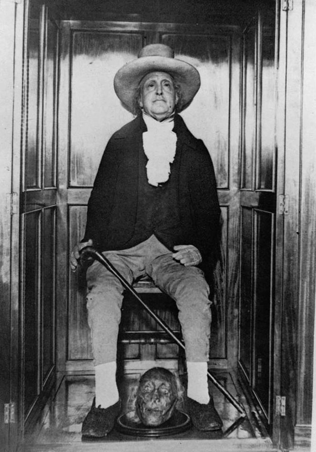Bentham fell ill and died in 1832. During the tragedy surrounding his death, it was discovered that he left some surprising instructions for his body.