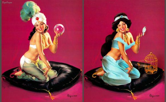 當迪士尼公主變成性感畫報女郎,小美人魚真的是最讓我HOLD不住的那個!