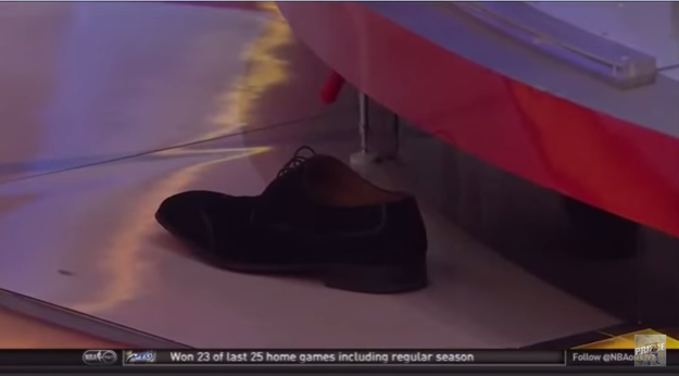 He even lost his shoe, leaving it to cry on the sidelines.