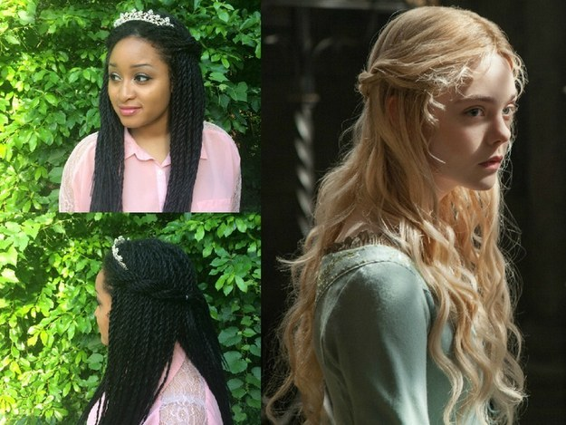 """""""You don't have to have golden locks like Rapunzel or waist level tresses like Jasmine to be a princess,"""" says Arlexis."""