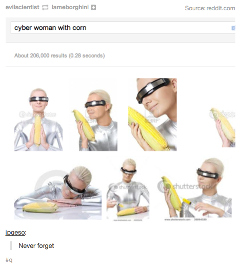"""""""Cyber woman with corn"""""""