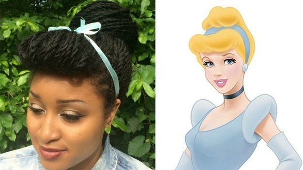 So Arlexis decided to recreate iconic Disney hairstyles with her Senegalese twists.