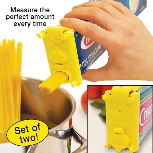 This pasta box topper that will make sure you never accidentally cook too much pasta again.