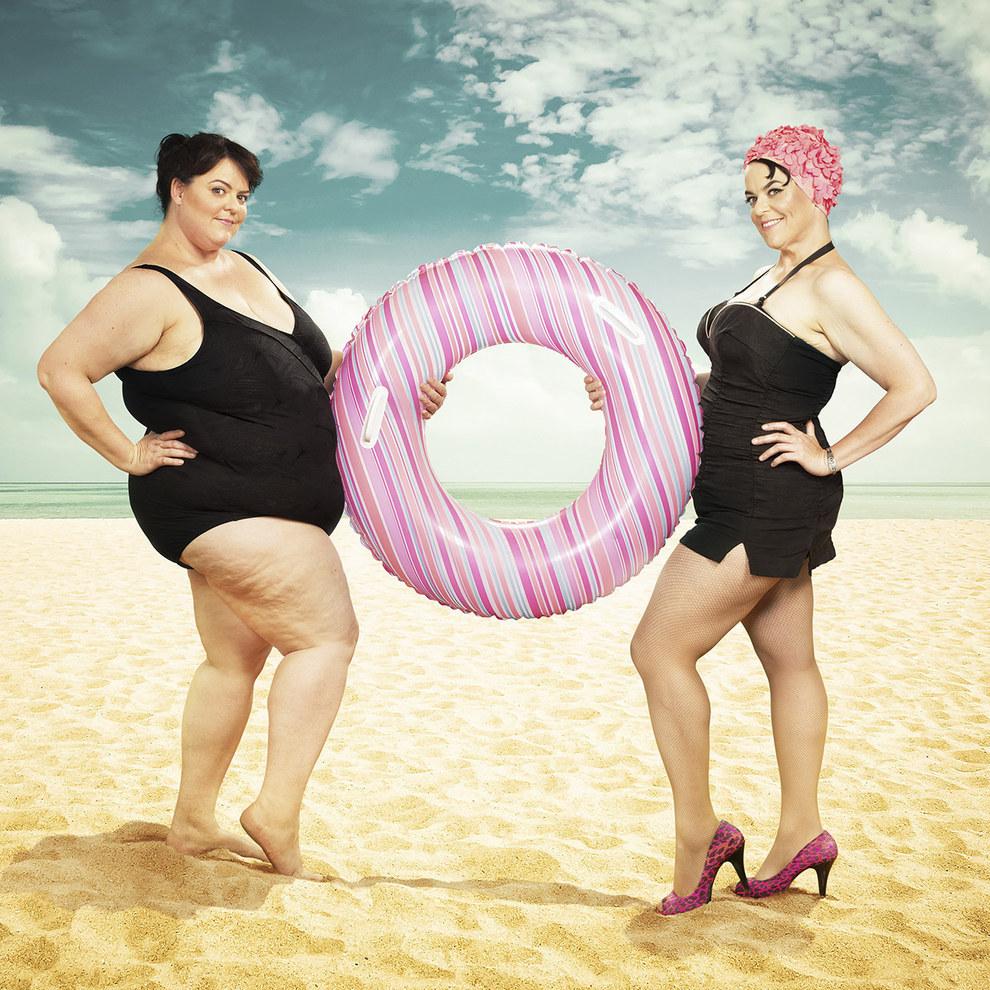 這名攝影師用我看過最有創意的方式拍下她的好友減肥前後的11張照片。