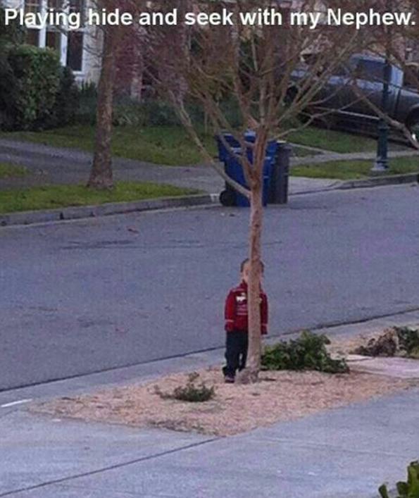 20個以為你一定找不到他們的捉迷藏菜鳥小朋友。