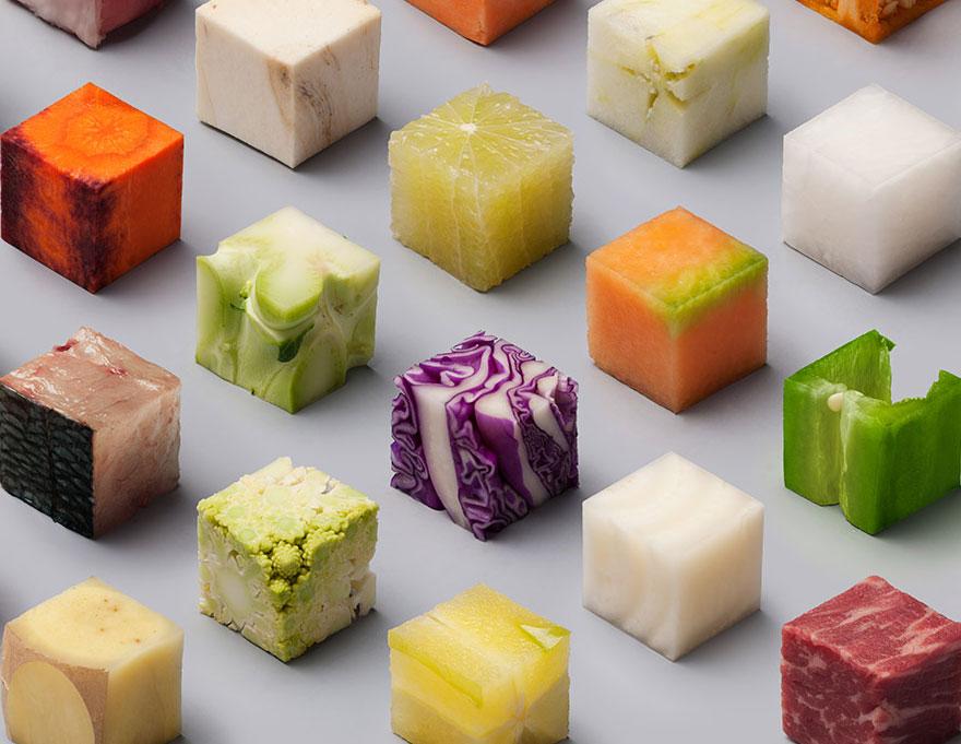 98種生食切成小方塊後排在一起的結果,會把你的人生向「圓滿」多推進一步。