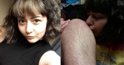 這名美女親的可不是男友的腿喔!其實,她8年來不除毛背後想傳達的是個解放女性的訊息!