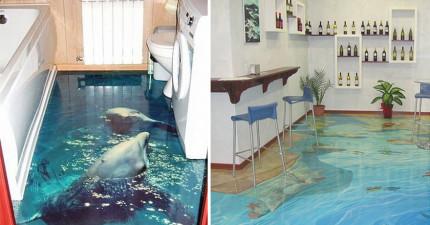 這間浴室地板設計公司覺得所有浴室都太無聊了,決定把它們都變成讓你進去前都會心跳加快的美麗海洋!