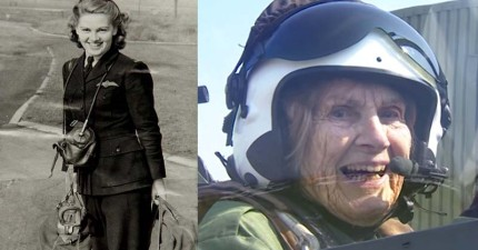 92歲二戰女飛行員時隔70年,最後一次駕馭戰鬥機一飛沖天!
