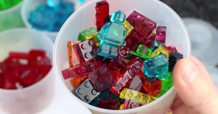 這些不是普通的透明樂高,而是可以讓你蓋出可以吃的城堡的「樂高軟糖」!(內有DIY教學)