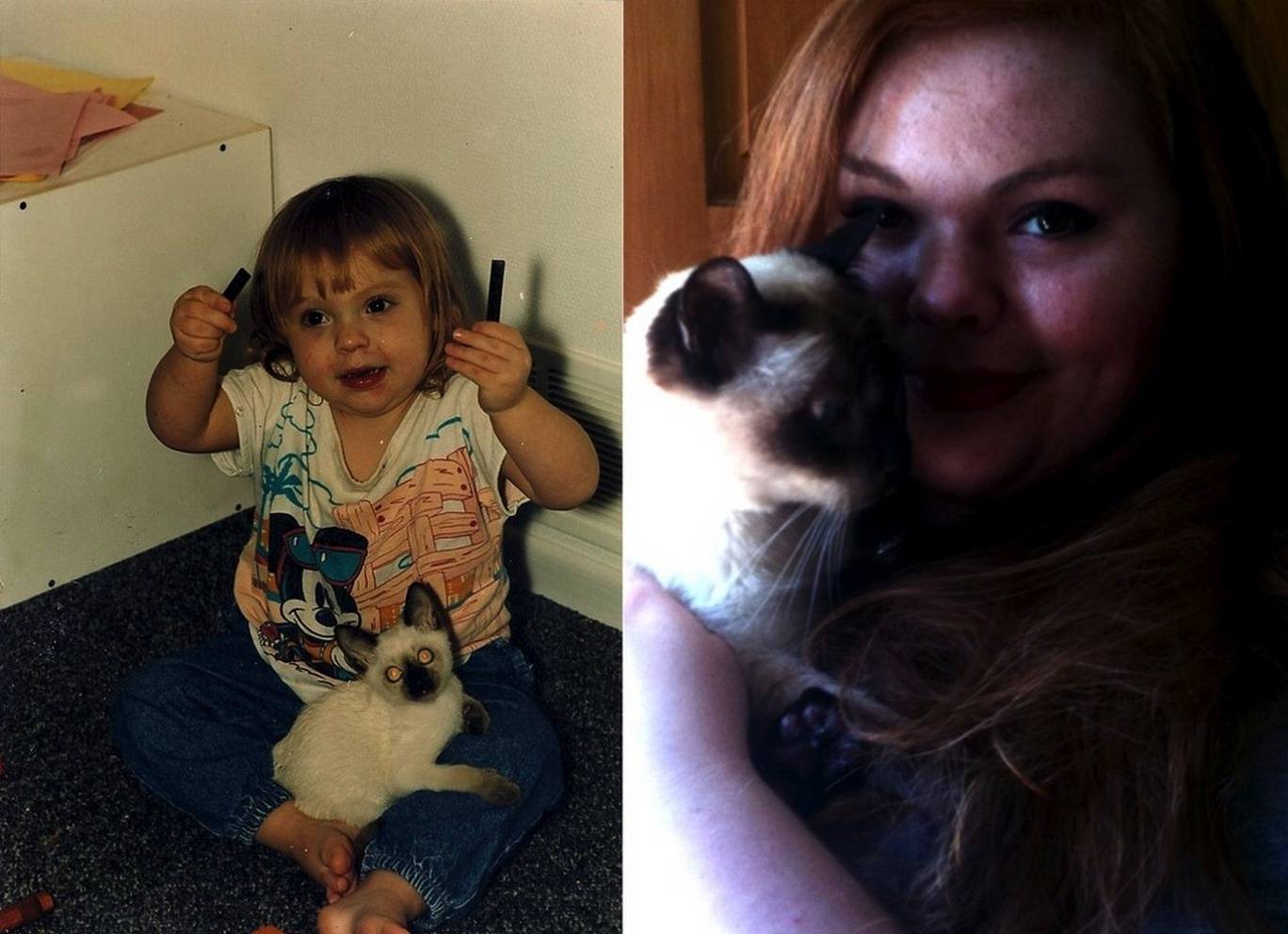"""""""Our first and last pictures together. Mortimer, 1991-2010."""""""