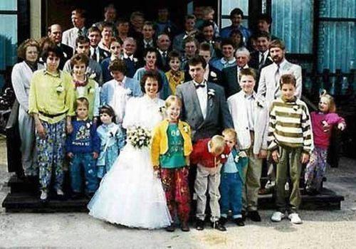 This wedding makes him sick.