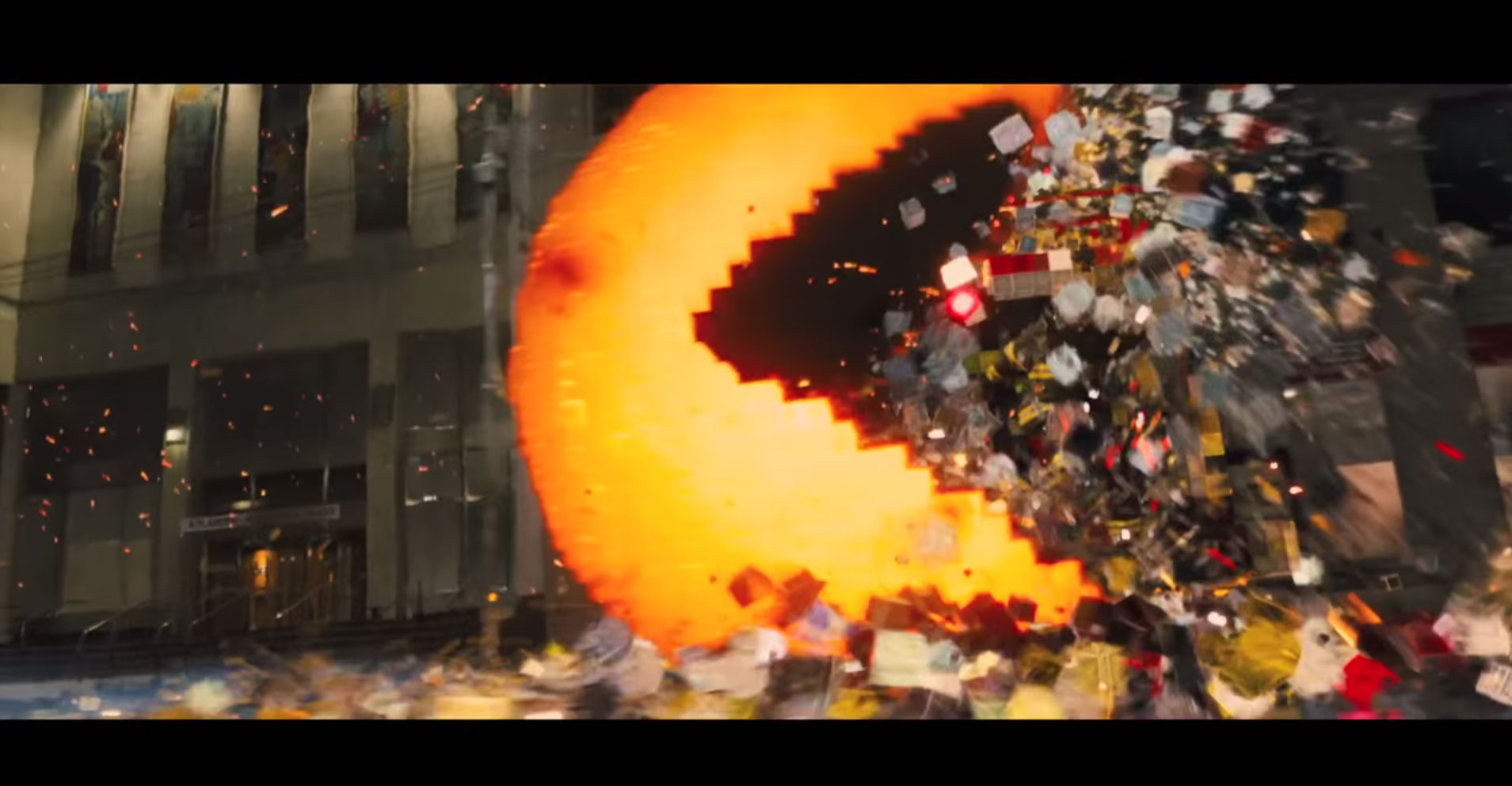 pacman-pixels電影預告騙