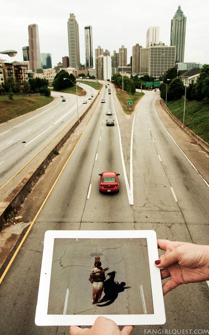 攝影師將iPad帶到經典電影拍攝現場,快門一按下馬上就還原了經典電影場景!