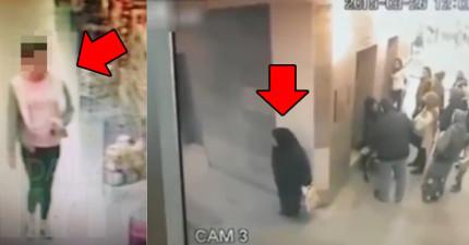 賣場店員在一些嬰兒衣服下面發現到排泄物,結果看監視器畫面時才發現到最奇怪的畫面...