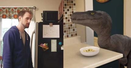 你可能會不相信,但迅猛龍其實是佷糟的寵物,每次到吃早餐的時候你就會知道為什麼了...