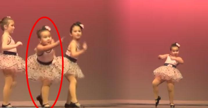 注意中間這個小女生,她「嗆辣的跳舞風格」會提醒你生命要怎麼過才精采!