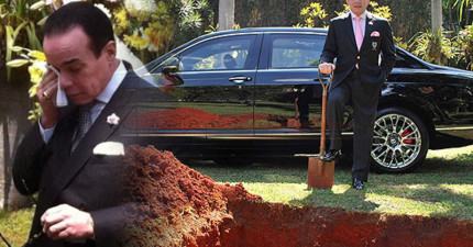 超多人在罵這位富豪公開埋葬自己1550萬的豪車,但他最後說的話讓所有人都發現到超有道理!