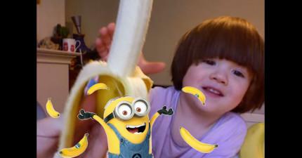 這個小男生說「Banana」的方式跟小小兵一樣爆可愛,已經攻陷了1364萬人了...下一個就輪到你!