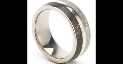 結合「太空隕石、恐龍骨、黃金」製成的戒指就是你夢寐以求的終極結婚戒指!