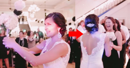 這位新娘正準備丟出捧花,但她一轉身直接獻給表妹,並叫她轉身...