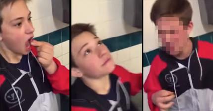 這名男孩一口吞下「比朝天椒辣30多倍」的斷魂椒,於是下一秒就崩潰到以為自己會死掉。