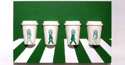 韓國插畫家將星巴克紙杯經過「加工」後,我才知道原來星巴克女神休息的時候都有什麼消遣。