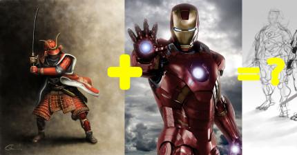 這個男生把《鋼鐵人》和日本武士結合,變成每個鋼鐵迷都會愛到炸掉的「鋼鐵武士」!