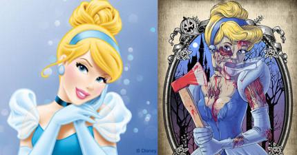 13位被感染殭屍病毒的可怕迪士尼公主...王子們趕快逃啊!