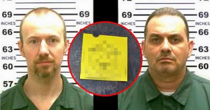 這兩名囚犯利用超好萊塢的方法逃獄,居然還在逃出處留下超欠扁的嘲諷紙條。
