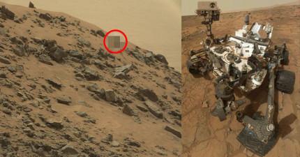 NASA的火星探測車回傳了這張超離奇的照片,難道這是「外星文明」存在的最直接證明嗎?