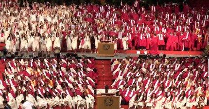 這些夏威夷學生的畢業典禮絕對比很多演唱會還要精采,讓所有在場觀眾都樂翻了!