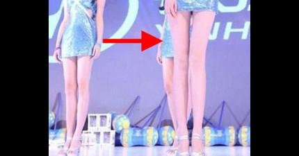 全世界腿最長美女模特兒:115公分腿已經長到我們根本無法把她整個人放在同張照片裡。