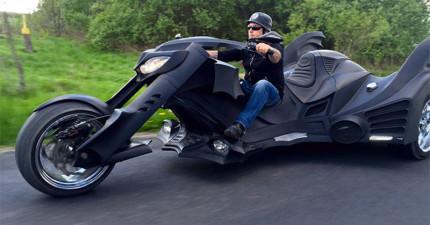 這台蝙蝠俠都會超想要的超帥「蝙蝠三輪車」絕對有資格變成你的夢想!