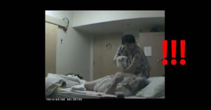 護士騙他說他的老媽媽只是一直跌倒,因此他就懷疑偷偷裝了監視器,結果看到的景象更讓他吃驚!