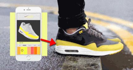 這雙內建智慧功能的「變色鞋」讓你一雙抵百雙,一按APP裡的「變色」普通鞋商臉都要嚇綠了。