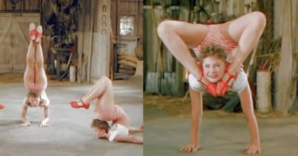 這支1944年影片中的3個漂亮女生跳的舞一開始很正常,但到了1:15就會讓你嚇到睡不著覺!