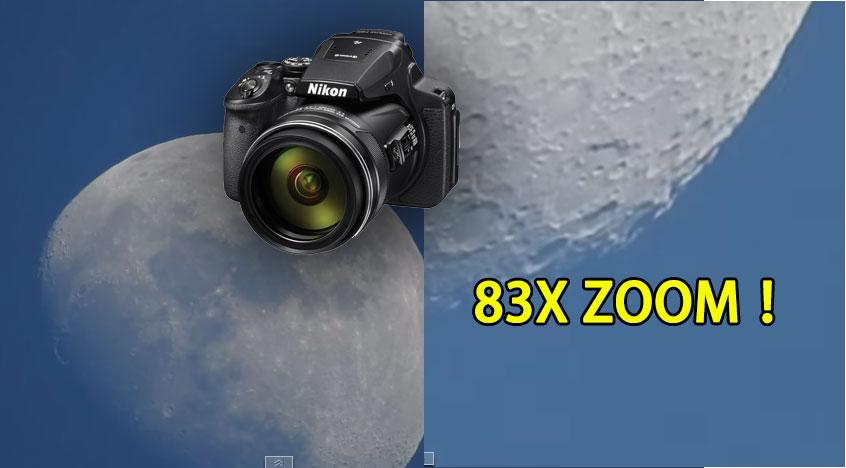 當這台相機放大83倍時,你就會搭著火箭直接飛到月亮表面上度假!