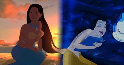 你必須要知道,其實迪士尼公主都變成美人魚的話...超正的!