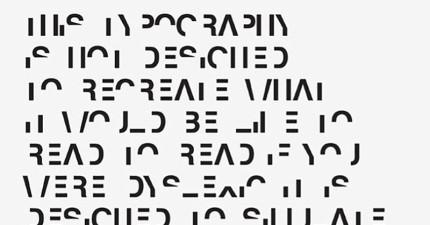 努力看完這篇字型,你就懂「閱讀障礙」患者的切身痛楚了!