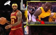 雷霸龍詹姆斯在NBA球賽直播時調整球褲,卻意外變成把全世界都嚇傻的「霸氣露鳥」片段!
