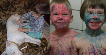這就是為什麼你絕不能讓小孩子和彩色筆同時離開你的視線!