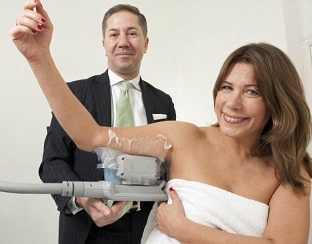 CoolSculpting involves freezing away your fat.Since it was launched in 2010, doctors have carried out over 1.5 million sessions of the treatment globally.Leah Hardy (pictured), who was one of the first people to have the procedure, said of the treatment back in 2010: 'CoolSculpting is safe, fast and works on lumps and bumps