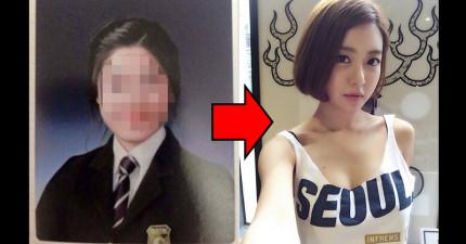 這位知名的火辣韓國DJ最近被爆出高中時的「極端差異照」,讓她的粉絲們開始一場激烈的口舌大戰!