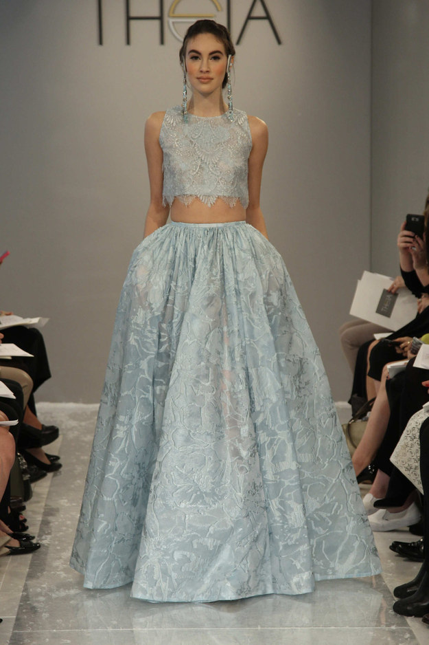 Or envelope yourself in this ice princess look.