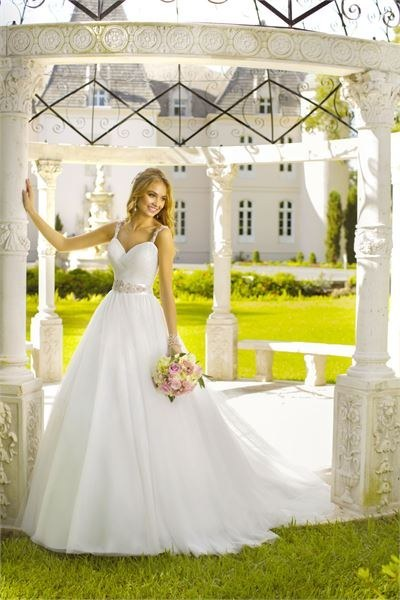 Or channel Jasmine's mystique in this simple white gown.