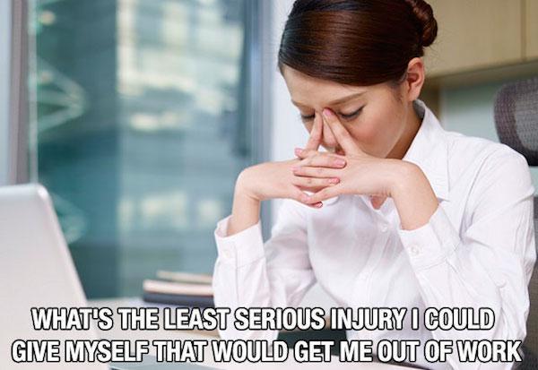 15個每位上班族天天都在內心吶喊的悲痛心聲。