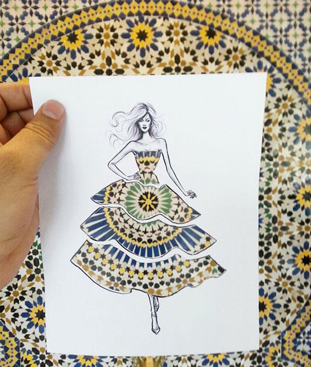 這些剪紙服飾設計很美,但當你把它們舉起來看時,才會發現到它們的驚奇功能!